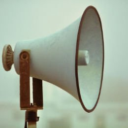 Vintage Megaphone, it will really get your message across - Solutions for Small Business